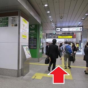 道順1_神田駅改札